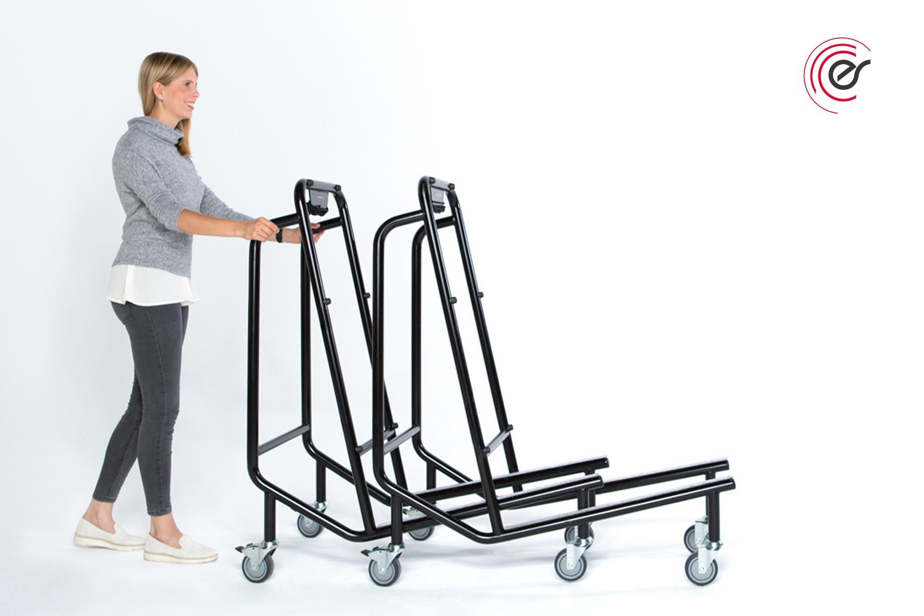 ErgoSusSET Tischtransportwagen Anwendung