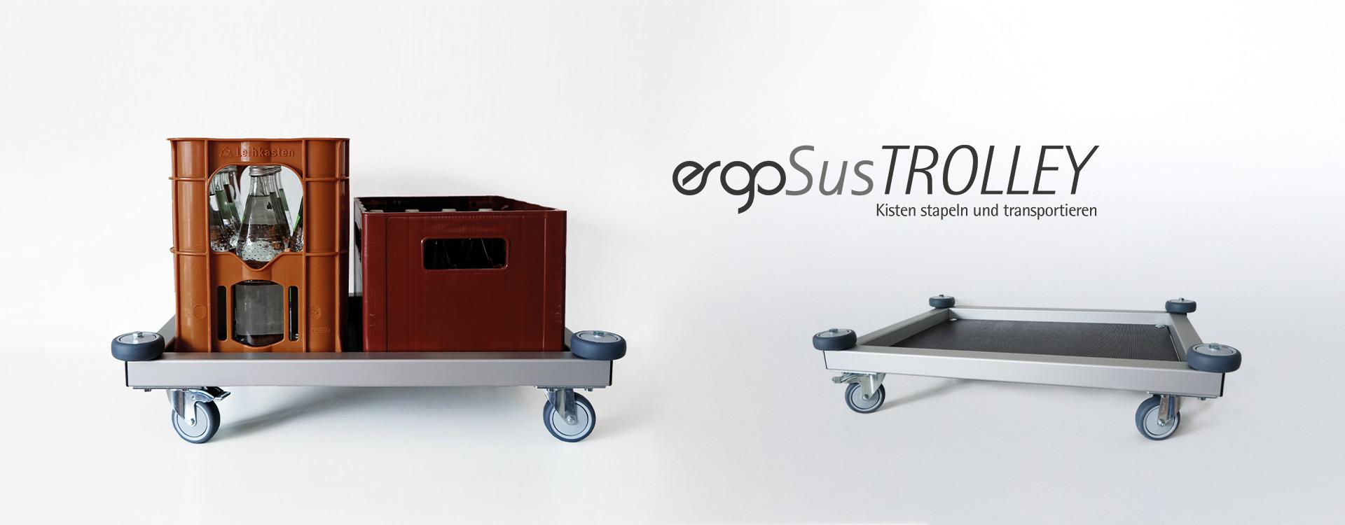 ErgoSus TROLLEY Kistentransport Wagen